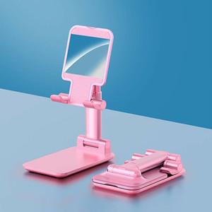 Universal métallique ergonomique Portable Téléphone pliable / réglable bureau Support tablette iPad Support Support téléphone portable rose