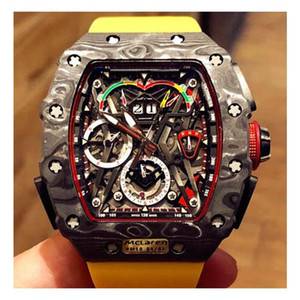 RIC26 Designer watches McLaren F1 .RM 50-03 model Movement watches .The material is made of NTPT carbon fiber.Multi-functional automatic me