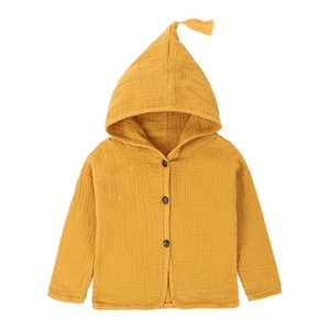 Baby Clothes Boys Girls Candy Solid Color Tassels Hooded Cardigan Jacket Coat INS Spring Children Kids Clothing Wholesale 231