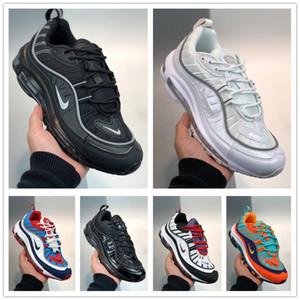 Scarpe da running e donne Air Max 98 QS Uomo 2020 di ammortizzazione delle scarpe da tennis Classic Retro completa Palm cuscino scarpe traspiranti Maschio formatori EUR36-