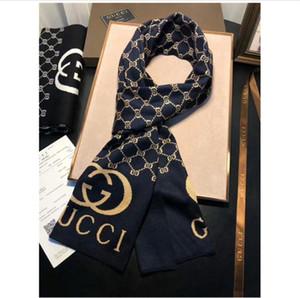Il modo popolare classico alfabeto maglia scialli di lana per uomo e donna autunno e comfort invernale uomini 2019 sciarpa promozione all'ingrosso