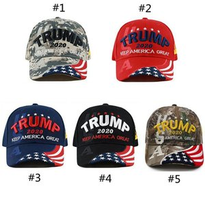 new Hot sale trump 2020 flag hat red Keep Make America Great Embroidery Cotton Caps cheap donald trump bonnet
