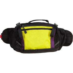 toile Mew sac de taille Noir Blanc Jaune Fanny pack de sacs crossbody de haute qualité de gros sacs de poitrine
