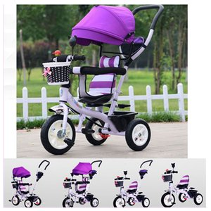 Rotating Seat Children Tricycle Bike Baby Carriage with 3 Wheels Shopping Basket Baby Car Travel System Bicycle Stroller Trike