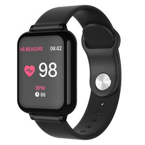 Relógio inteligente B57 Pulseira impermeáveis Smartwatches desportivos para iPhone Pulseiras Heart Rate Monitor de sangue Funções pressão para mulheres homens crianças