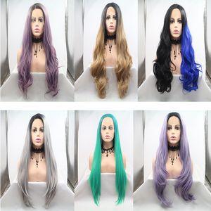 24 дюйма синтетических париков длиной естественная прямая или объемная волна естественный волосяной покров теплостойкое волокно различные цвета