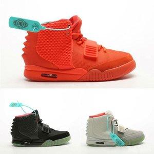 Kanye West 2 II NRG SP Red October Wolf Grey Black Solar Designers Baskeball Shoes Mens Sneakers Kanye West 2 Glow Dark Outdoor