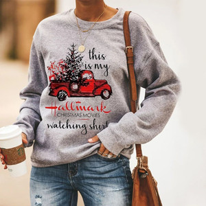 Hallmark рождественские фильмы Watching Толстовка Фестиваль Женская одежда Printed Tracksuit С Рождеством фуфайки Плюс Размер T200102
