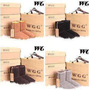 alta calidad de los medios cargadores de la nieve del invierno 12color atractivo de los cargadores WGG para mujer botas de nieve caliente de algodón arranque de invierno zapatos acolchados de EE.UU. 4--13