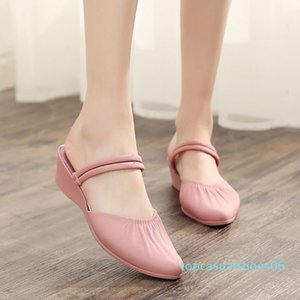 Summer female sandals Roman wedge sandals fashion shoes for women low-heeled Casual Ladies Shoes designer t06