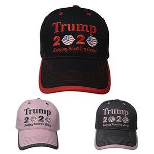 Donald Trump 2020 Berretto da baseball Keeping America Great Again USA Flag Snapback Lip ricamo cappelli di Sun del 3 colori del partito Cappello DBC BH3845