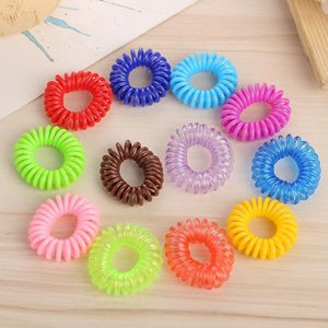 Candy Color Hair Rings Telephone Wire Design Ponytail Holder Girls hair band Colorful Elastics Hair Tie headband Bracelets