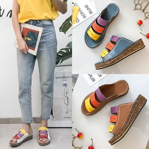 2020 without box Women Slippers Antiskid Good Qualtiy Leather Cheap Lady Summer Shoes Fashion Designers Beach Sandals