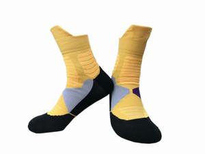 crianças estoque EUA Profissional elite de basquetebol Socks da UE a longo joelho Atlético Sport Socks Men Moda Walking Corrida Ténis Sports 12