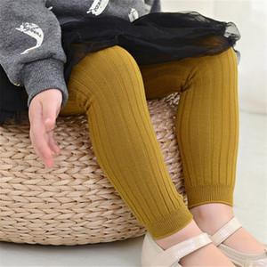 Детские развлечения колготки колготки Сплошной Полосатый Двойные иглы конфеты цвет носки хлопка жаккардовые младенца гетры дышащий 40