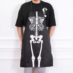 할로윈 바 댄스 의상 드레스 앞치마 해골 의상 앞치마 성인 남성과 여성 주방