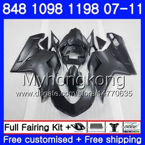 Karosserie für DUCATI 848R 1098R Mattschwarz HOT 1198R 848 1098 1198 07 08 09 10 11 324HM.5 1098S 848S S R 1198S 2007 2009 2010 2010 Verkleidung