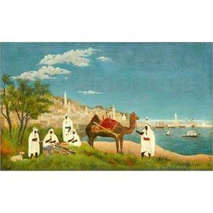 Modern oil paintings Landscapes art Landschaft um Algier (Paysage d Alger). Henri Rousseau animal picture Handmade wall decor