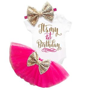 Es ist mein 1 Jahr Baby Mädchen ersten Geburtstag Tutu Kleid Kinder Goldkleider für Mädchen Taufe 6 Monate 1. 2. Kuchen Puffy Vestido