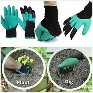 Bahçe Eldiven 4 ABS Plastik Pençeleri ile Dikim Kazma Bahçe Genie Eldiven Su Geçirmez Kazma Eldiven c1