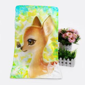 1PCS cervos Moda personalizado Anime Toalhas de banho Lenço Macio toalha de rosto dos desenhos animados Washcloth Unisex NOVO