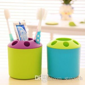 5 colori semplice multi-funzione di aspirazione Hook Tooth Brush Rack spazzolino Holder, accessori da bagno di aspirazione strumento Cup