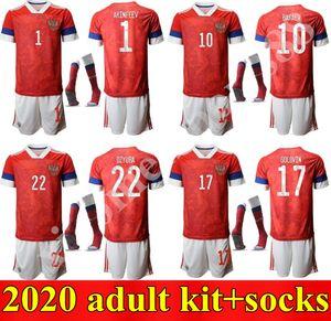 Yeni yetişkin kitleri 2019 2020 Rusya ev Futbol Jerseys çorap 19 20 Arshavin MIRANCHUK Zhirkov Erokhin KOMBAROV Smolov Futbol Gömlek