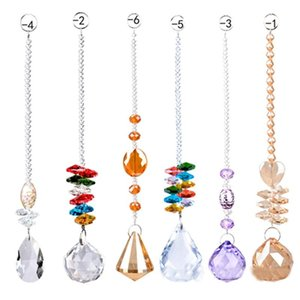 Colorful Crystal Chandelier Lamp Lighting Drops Pendants crystal prism hanging ball Glass Prisms Parts Home Decoration
