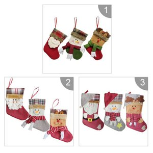 Sock Christmas Gift Bag Início Jardim Festive Party Supplies Holders Meias presente da árvore de Natal Ornamento do pendente