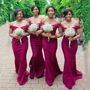 High Quality Bridesmaid Dresses Off the Shoulder Spring Summer Countryside Garden Wedding Party Guest Gowns Plus Size Custom Made
