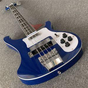 2019 Yüksek kaliteli elektro gitar, Ricken 4003-4 dizeleri bas gitar, siyah boya, ücretsiz kargo