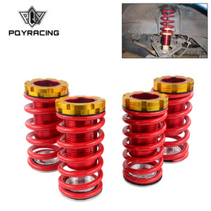 PQY - Forged Aluminum Coilover Kits for Honda Civic 88-00 Red available Coilover Suspension   Coilover Springs PQY-TH11
