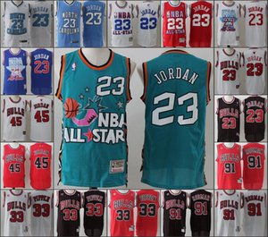Uomini ChicagoBullsNCAA Basketball Maglia MichaelJordan Dennis Rodman Scottie PippenNBA 2019-20 Maglie