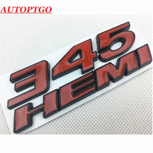 معدن الكروم CAR STYLING 345HEMI 345 HEMI 3D رسالة الشارة FENDER SIDE BADGE LOGO لاصق FOR ALL DODGE RAM CHALLENGER CHARGER كرايسلر 300C