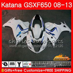 Kit Pour SUZUKI KATANA GSXF 650 blanc stock GSX650F 08 09 10 11 12 13 14 18HC.14 GSXF-650 GSXF650 2008 2009 2010 2011 2011 2013 2013 2014 2014 Carénage