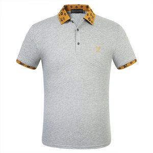 Mens Polos Shirts Summer New Polos for Men Tee Shirts with Letter Embroidery Casual Mens Clothing M-3XL 5 Colors