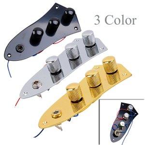 Plattiert Wired Switch Control Platte für FD Jazz Bass-Gitarren-Parts mit 3 Farben