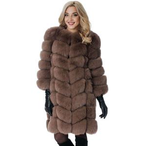 OKXGNZ Inverno Donna Faux Fur Coat Casual Giacca a maniche lunghe Cappotto Solid Fashion Slim Fur Cappotto caldo Casaco Feminino Plus Size