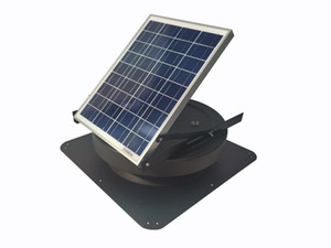 Cool Attic Solar Power Vent Fan with Thermostat Home Depot Exhaust Green Air roof fan natural light