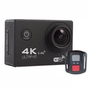 2020 - 새로운 F60R 2.0 인치 화면 4K 170도 방수 하우징 원격 케이스 컨트롤러와 광각 와이파이 스포츠 액션 카메라 캠코더