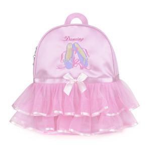 Mädchen-Ballett-Tasche Professionelle Tanz-Tasche für Baby-Kind-Ballerina Tanzen Wasserdichte Gymnastik Rucksack Kid Rosa Rucksack