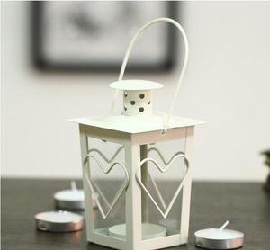 Black White Metal candle holders Iron lantern wedding candelabra candelabra centerpieces wedding moroccan lanterns candle lantern