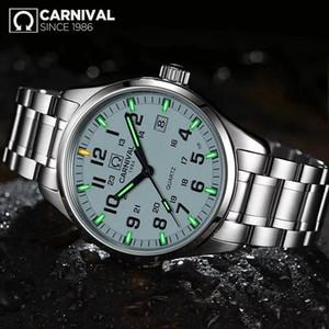 Carnival T25 tritio reloj luminoso de los hombres relojes de Mens superior del reloj del cuarzo Reloj Masculino Masculino Relógio