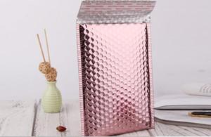 25pcs 15x13cm / 15x20 + 4cm Sac à bulles en or rose très épais Poly rembourré Bubble enveloppe multifonctionnelle Mailer pour package cadeau