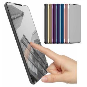Custodia a specchio elettrolitico per Huawei Mate 10 Lite Custodia in pelle Smart Clear View Custodia a vibrazione per Huawei Nova 2i Custodia Honor 9i