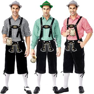 Male Bavarian Beer Costume Carnival Cosplay Uniform High Quality Germany Festival Theme Costume Men Hansel Oktoberfest Overalls With Shirts