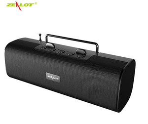 Fique Radio Zealot S40 New Bluetooth Speaker Outdoor Subwoofer FM Super Banda Antena Mobile Phone Speaker 2000 mA 7 Cores