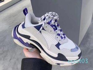 Erkekler Kadınlar Bahar için sıcak satış-Moda Lüks Tasarımcı Kadınlar Ayakkabı Baba Ayakkabı Üçlü S 17FW Sneakers Lacivert Turuncu Baba CT3 CHAUSSURES