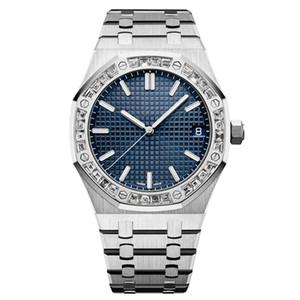 qualité supérieure montre diamant hommes mouvement mécanique automatique montre toute la natation en acier inoxydable super montre en verre saphir brillant u1