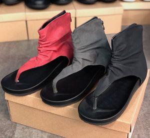 Big Size Women Summer Sandals Patent Leather Ankle Flip Flops Shoes Luxury Beach Ladies Sandals Party Wedding Slides Sandal Rubble Sole EU43